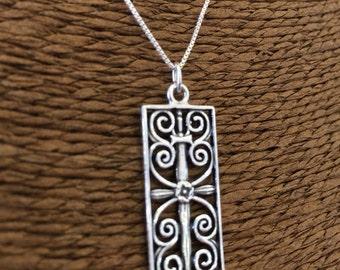 Sterling Silver (925) Charleston Gate Jewelry Pendant, the Citadel, Charleston South Carolina