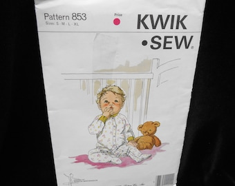 Childrens Sleeper Kwik Sew 853 Infants Toddlers Small-Extra Large Baby  newborn-12 months