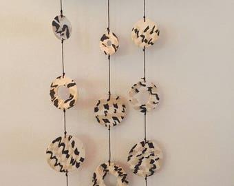 Ceramic Mobile Wall Hanging - Goute de Chocolat