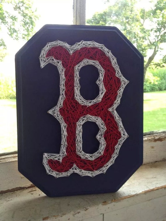 & Boston Red Sox B String Art Red Sox wall hanging