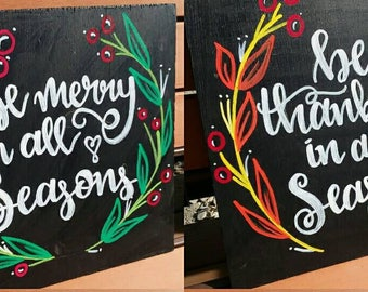 12''x12'' Double Sided Holiday Sign