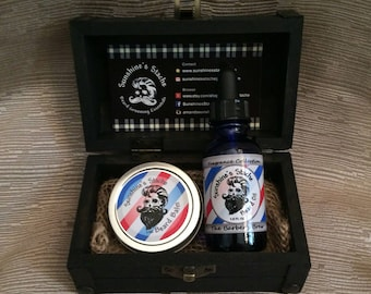 Beard Oil & Balm Grooming Kit (Black Box)