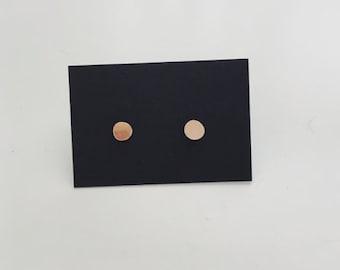 Tiny GOLD circle stud earrings / teeny tiny stud earrings / small circle earrings / stacking stud earrings / circle stud earrings
