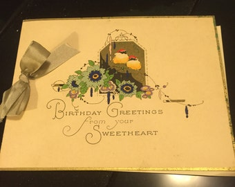 Antique Birthday Card
