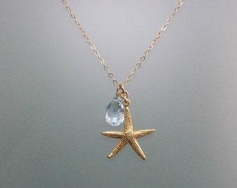 Seaside Starfish with Blue Topaz
