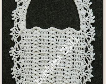 Crochet Baby Bib Pattern - Vintage 1950s - PDF 1953A - A Best Seller!