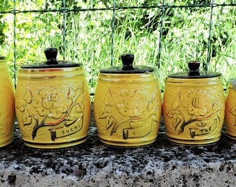VINTAGE (set of 6) spice jars
