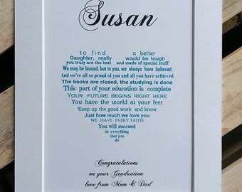 Daughter Graduation, Son Graduation, Personalized Graduation gift, College Graduation, college student gift, personalized gift