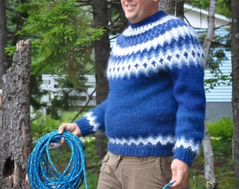 The Fisherman. A handmade Icelandic sweater. Made to order!
