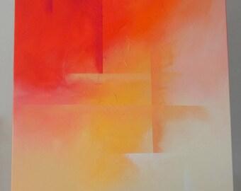 warm tones abstract canvas