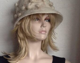 Felt felted wool hat