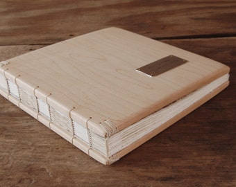 maple wood wedding guest book - custom handmade personalized graduation retirement anniversary recipe cabin memorial baby - made to order