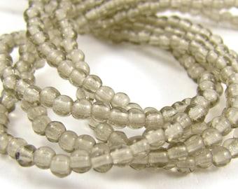 Black Diamond 3mm Smooth Round Czech Glass Beads 100pc #1676