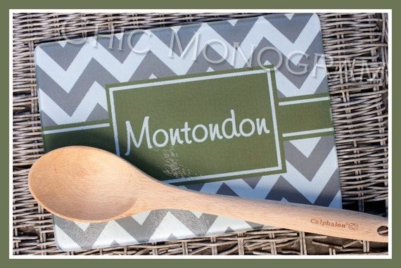 Personalized Glass Cutting Board Custom Monogrammed Gifts Unique Gifts for Mom Hostess Gifts Wedding Gift Ideas Housewarming Monogram Gifts
