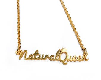 Natural Queen Necklace 18K Gold Plated