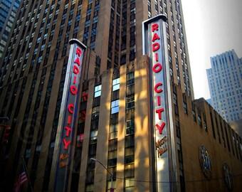 Radio City Music Hall NYC Photography, Fine Art Print
