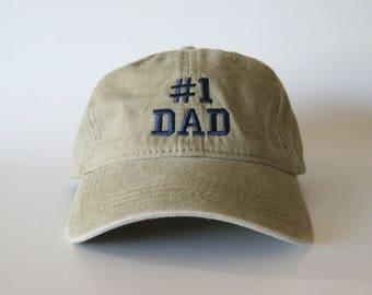 Number 1 Dad Embroidered Cap #1 Dad Cap #1 dad hat # 1 dad baseball cap