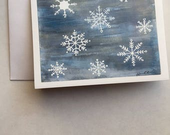 Christmas Cards- Let It Snow,Includes 10 Cards & Envelopes, Handmade, Christmas