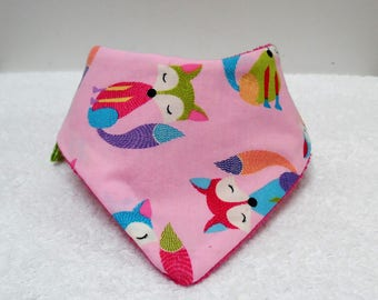 "Bandana bib in Japanese fabric and Terry ""the little crafty"""