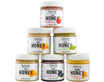 Apiterra HONEY Gift set with Superfoods - 48 Ounce, 6 Count