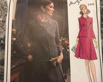 Vogue Paris Original Pattern - Molyneux - 2418 - size 12