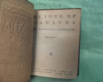 The Song of Hiawatha Little Leather Library small book / vintage Longfellow