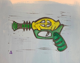 Green and Yellow Raygun