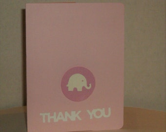 Elephant Baby Thank You Cards, Thank You Baby Cards, Baby Shower, Baby Girl, Congratulations, Thank You Cards, Baby Cards,