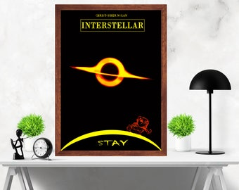 Interstellar Minimalist Alternative Original Artwork Movie Print Poster