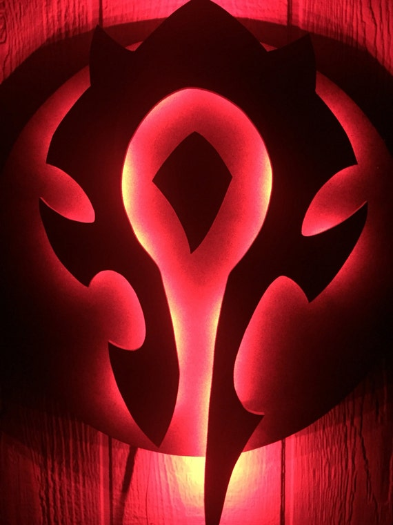 Warcraft Horde Light Up Symbol Nightlight