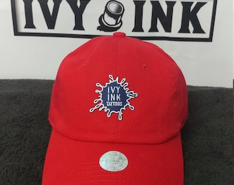 Red Ivy Ink (Ink Blot) dad hat