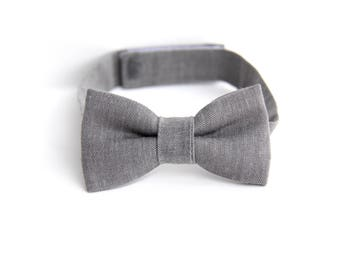boys bow tie, kids bow tie, toddler bow tie, gray bow tie, bow tie for toddlers