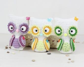Crochet pattern of Decorative OWL (Amigurumi tutorial PDF file)
