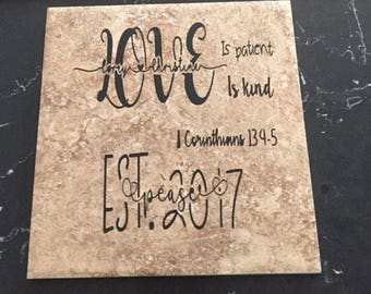 Personalized decorative tile
