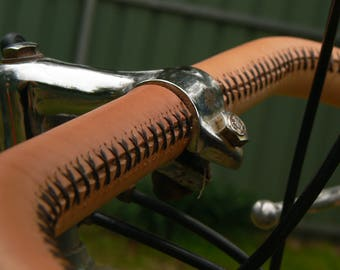leather bar wrap sew on handlebar bicycle tape