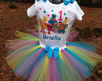 Sesame street birthday tutu outfit