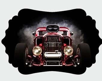 Classic Car UV Printed MDF Wall Decor, Wood Decor