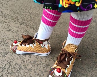 Toddler Ice Cream Custom Converse Ice Cream Sundae Shoes for Babies and Toddlers As Seen on Talk Stoop