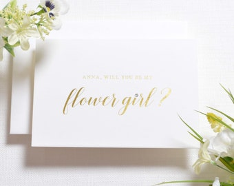 Personalised Will You Be My Flower Girl Card - Will You Be My Flower Girl - Will You Be My Flower Girl Card - Foil Be My Flower Girl - Foil