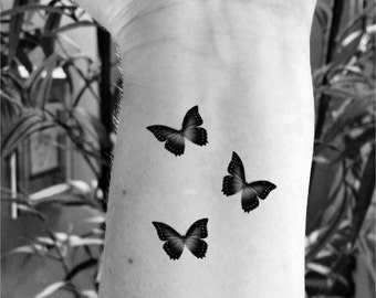 Temporary tattoo butterfly tattoo set of 6 fake tattoo butterfly tattoos small tattoo tiny tattoos