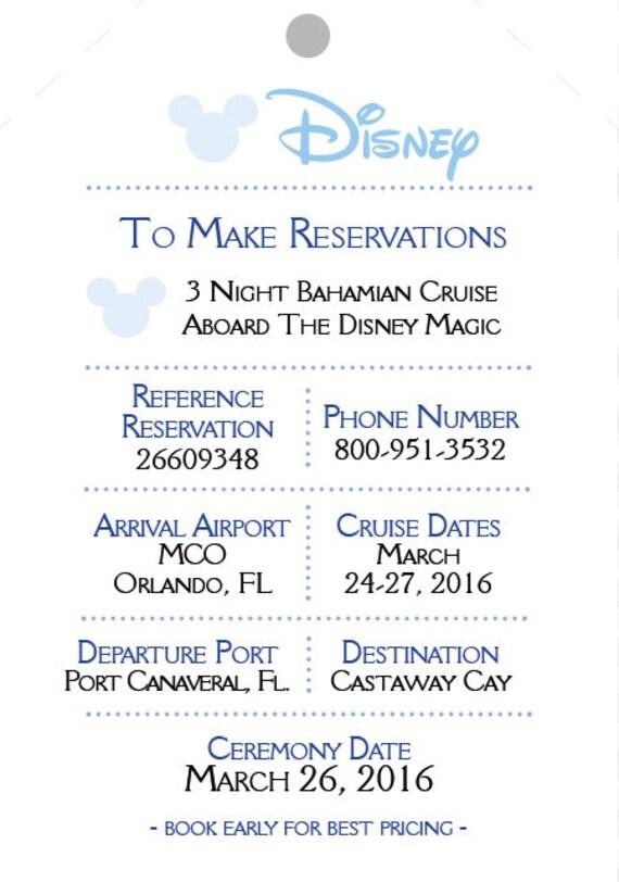 Disney Wedding Invitation Set Boarding Pass Invitations Cruise Pocket Mickey Nautical Ticket Invite
