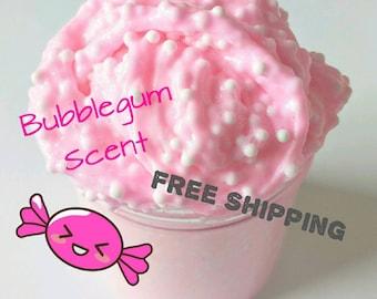 Pink Bubblegum, Crunchy Slime, Pink Slime, Slime, Bubblegum, Pink Pastel Slime, Floam Slime, Scented Slime, Fluffy Slime