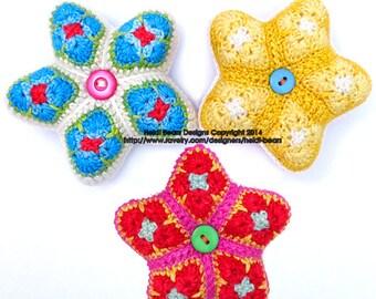 Little Stars African Flower Crochet Pattern