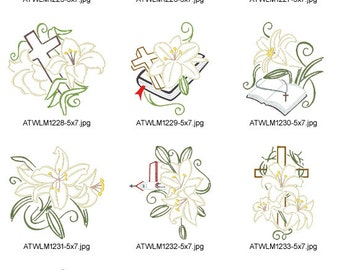 Easter-Lilies-5x7 ( 10 Machine Embroidery Designs from ATW )