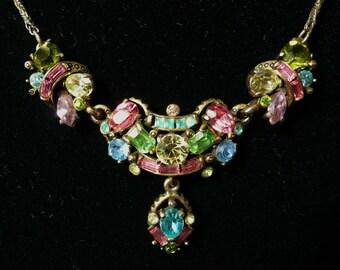 Hollycraft 1955 Multi Pastels Necklace