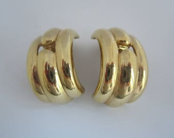 Vintage Givenchy  1980's Statement Earrings-Clips-FREE SHIPPING (US)