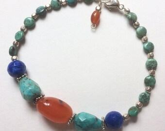 Blue & Orange Bracelet
