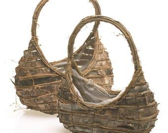 Birch and Grapevine Basket
