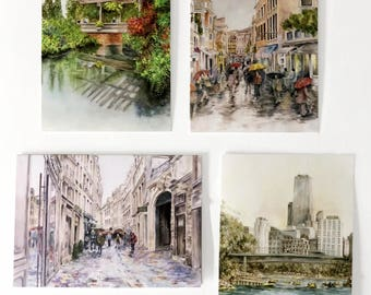 GREETING CARDS! Set of 4! Note Cards
