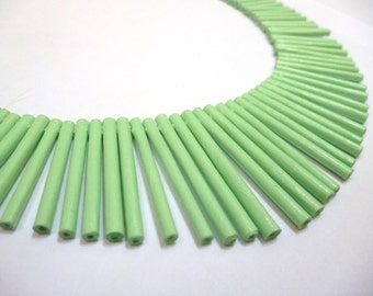 Jade Green Sunbeam Necklace - Paper Necklace
